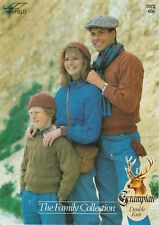 Family Sweaters, Hat & Gloves Knitting Pattern - Hayfield Grampian DK no.7072