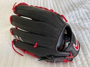 "Nike SHA/DO Edge 12.5"" Left Hand Baseball Glove Black Red BF1751-006 Shado RHT"