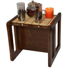Adults Furniture 1 Small Coffee Table Beech Wood Dark Stained