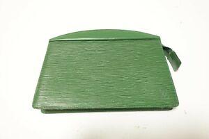 Authentic Louis Vuitton Epi Trousse Crete  Accessories Pouch Bag #9612