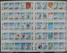 SOLOMON ISLANDS - #570-574, 1987  AMERICA'S CUP  SHEET OF 50 STAMPS - MINT NH