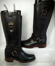 Steven By Steve Madden Cace Boots Riding Equestrian Round-toe Buckle Zip size 6