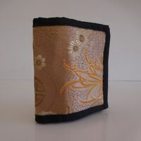 Portefeuille TONI tissu femme vintage made in India by TIBETAN REFUGIEES