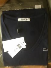 Ladies LACOSTE Navy soft cotton jersey TSHIRT size 40 UK (10-12) BNWT