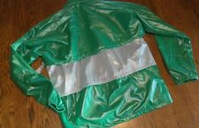 Ladies M Duckster Womens Green & White Spring Jacket nwt Windbreaker Zipper