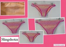 "'16*Victoria Secret The Strappy Cheeky* Wmn's ""M"" Multi-color Lace Bikini Bottom"