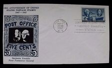 1947 3c Stamp 100th Anniversary of US Postage Stamps Cachet Cover Scott 497