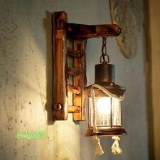Retro Home Bamboo Wall lamp Loft Stair Antique Manual Bamboo Weaving Wall Light