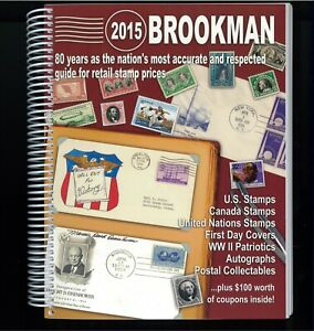 2015 Brookman Price Guide U.S. U.N. Canada Stamps Catalogue Spiral Bound 392p