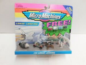 #35 LUNAR LANDING, MICRO MACHINES #64630, GALOOB, MIC, WITH 4 MICRO MACHINES MIN