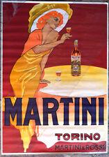 MANIFESTO PUBBLICITARIO ORIGINALE MARTINI TORINO MARTINI E ROSSI ANNI 60