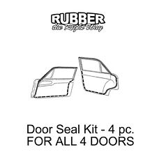 1960 1961 1962 1963 1964 1965 Ford Falcon Door Seal Kit - 4 Door Sedans
