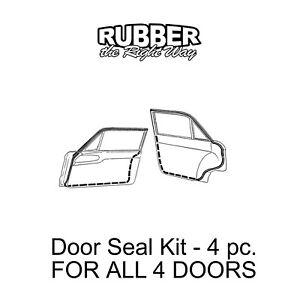 1960 1961 1962 1963 1964 1965 Ford Falcon Door Seal Kit - 4 Door Sedans