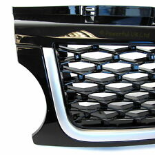Front Grille Sport Autobiography for Range Rover 2010 in java gloss black grill