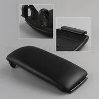 Schwarz PU Leder Mittelkonsole Armlehne Abdeckung Deckel Für Audi A4 A6 C5 00-06