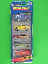 1998 Hot Wheels 5 Car Gift Pack House Calls Pizza Plumber Electric Handy-man Van