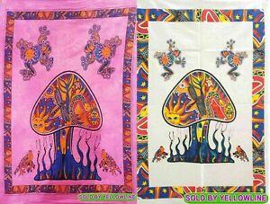 2 piece Mushroom Tapestry Bohomen Indian Wall Hanging Wholesale (77cmX102cm)PW-1
