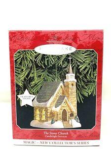 Hallmark Keepsake Ornament, The Stone Church Candlelight Series, 1998