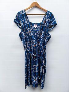 Leona Edmiston Faux Wrap Dress Size 16
