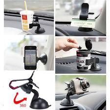 Support Ventouse Fixation Pare-brise Voiture Rotatif Pince Téléphone GPS holder