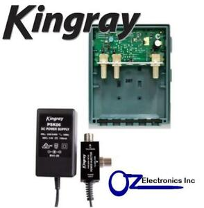 MHW25FE KINGRAY DIGITAL TV MASTHEAD AMPLIFIER BOOSTER INC PSK06 POWER SUPPLY