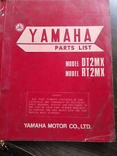 YAMAHA PARTS LIST NUMBERS MANUAL 1971 DT2MX RT2MX