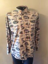 Men's Columbia LS 100% Cotton (L) Button Down Hunting Casual Shirt