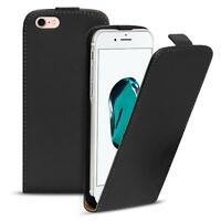 Flip Case Apple iPhone 7 Hülle Pu Leder Klapphülle Handy Tasche Cover Schwarz