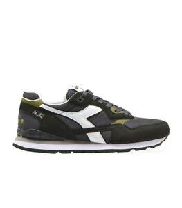 Scarpe da uomo Diadora N92 80016 nero verde sneakers sportivo calzature casual