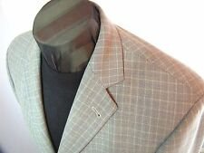 Hugo Boss Mars 3 btn tan blue Euro weave lightweight wool sportcoat 42 L MI USA