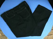 Haband Fit Forever Pants Vtg Black Sz 42 x 39 Faux Denim Slacks Expandable Mens