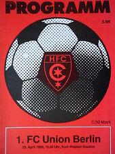 Programm 1988/89 HFC Chemie - Union Berlin