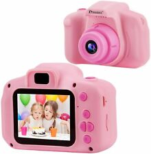 """Kids Camera.1080P HD 5MP 2.0"""" LCD Children's Digital Camera, Rechargeable, Pink"""