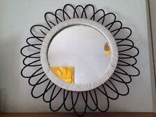 Miroir Soleil Rotin Vintage époque Chaty vallauris An 50's