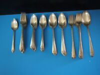 INTERNATIONAL WM. ROGERS & SON EXQUISITE SILVERPLATE FLATWARE 56 pcs