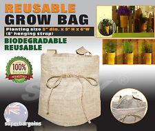 5x Reusable Durable Garden Grow Bags Planter Growing Flower Plant Vegetable
