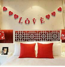 New Valentine Day Heart Red Garland Love Gif Hanging Decoration Hearts Wedding S