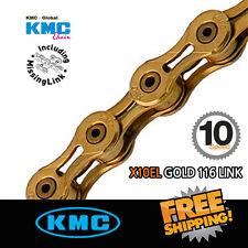 KMC X10EL Gold Chain 10 Speed 116link with Missing Link For Shimano/Sram