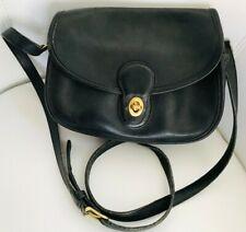 Vintage Coach Prairie Bag Black Leather Turnlock Shoulder Crossbody #9954 USA