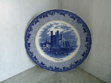 Royal Cauldon Enland Royal Views CARNARVON CASTLE Blue Transfer Plate 8 1/8""