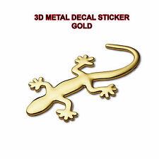 3d ORO Gecko Metallo Auto Adesivo Auto Moto Decalcomanie Car-Styling Autoadesivo