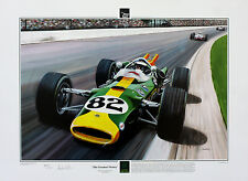 Jim Clark Lotus, Indy 500 - Limited Edition Print by Andrew Kitson