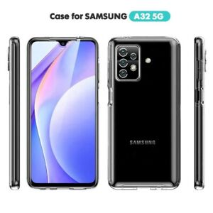 SAMSUNG A32 5g Shockproof 360 Cover Front and Back Case CLEAR