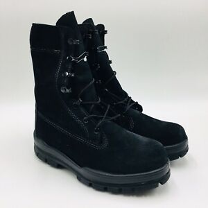 """Bates Women's 9"""" 01778 Suede Steel Toe Boot Black, Wide And Medium SD"""