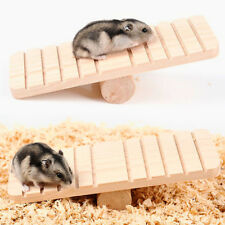Pet Hamster Wooden Anti-slip Seesaw Teeterboard Toys Cage DIY Ornament HOT _GG