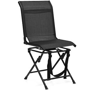 Folding 360° Silent Swivel Hunting Chair Blind Chair All-weather Outdoor
