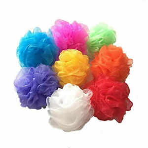 Pack of 3  Body Puff Shower Bath Sponge Scrunchie Exfoliating Loofah Body Wash