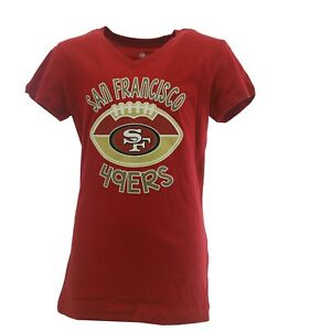 San Francisco 49ers Official NFL Apparel Kids Youth Girls Size T-Shirt New Tags