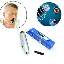 Electric Nose Ear Face Hair Trimmer Shaver Clipper Cleaner Remover Cleaning Tool