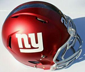 New York Giants Custom Speed Blaze Football Helmet QB Decals Used Barkley